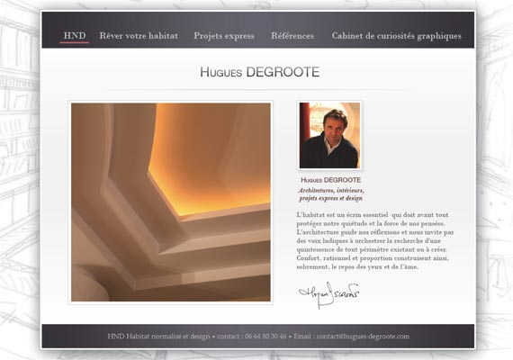 Site internet Hugues DeGroote - Architecte - Client GBNB